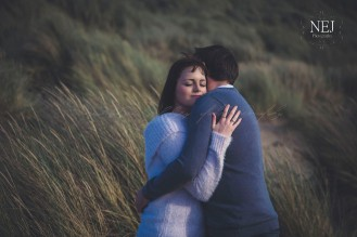 Faith and Luke. Engagement shoot with Natalie Jolley Photography at Borth Beach