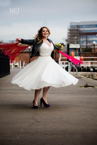 Rock and Roll Wedding, Gloucester Docks- Image by Natalie Jolley For SJP Bridal 15 wm